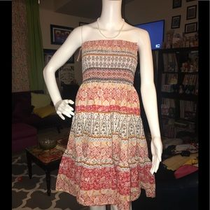 Pink apple boho sweet size medium dress